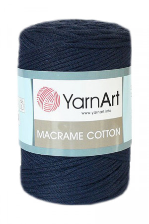 Пряжа MACRAME COTTON 784 Темно синий